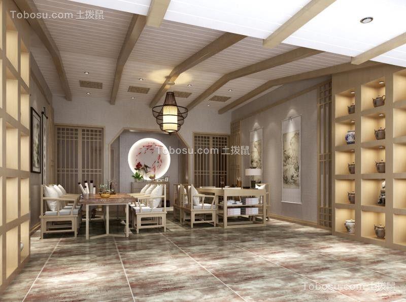 书房米色吊顶中式风格装潢设计图片