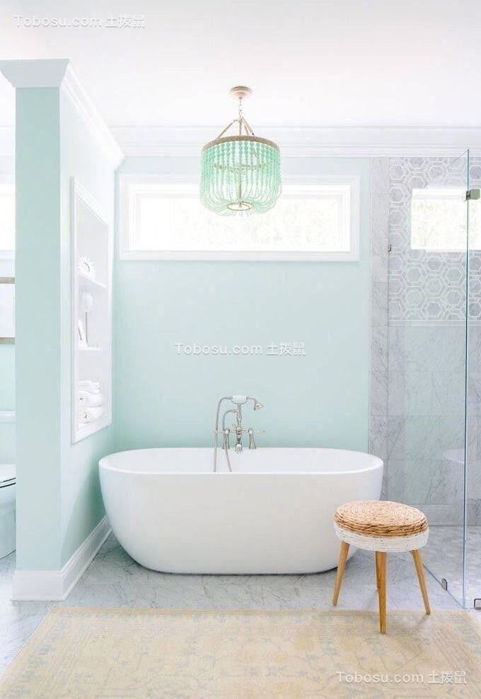 设计优雅浴室浴缸装饰设计图片
