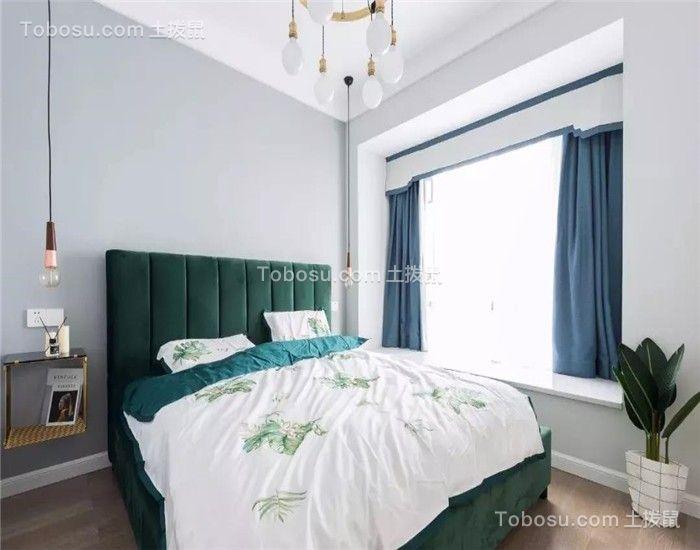 完美绿色床装潢设计图片