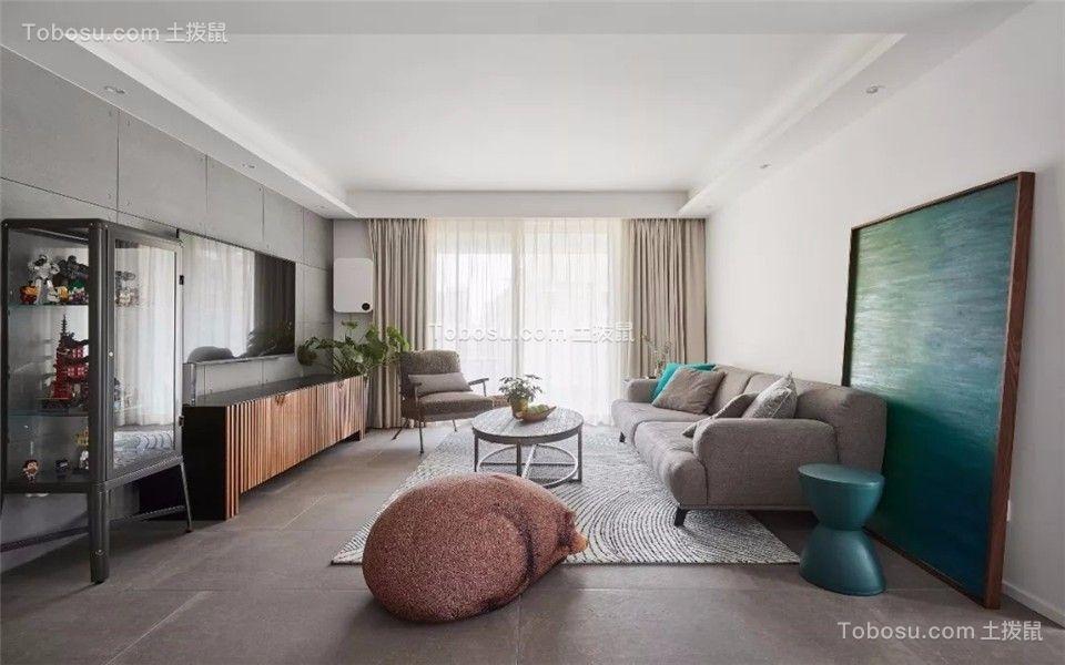 110平现代简约风格三居室装修效果图