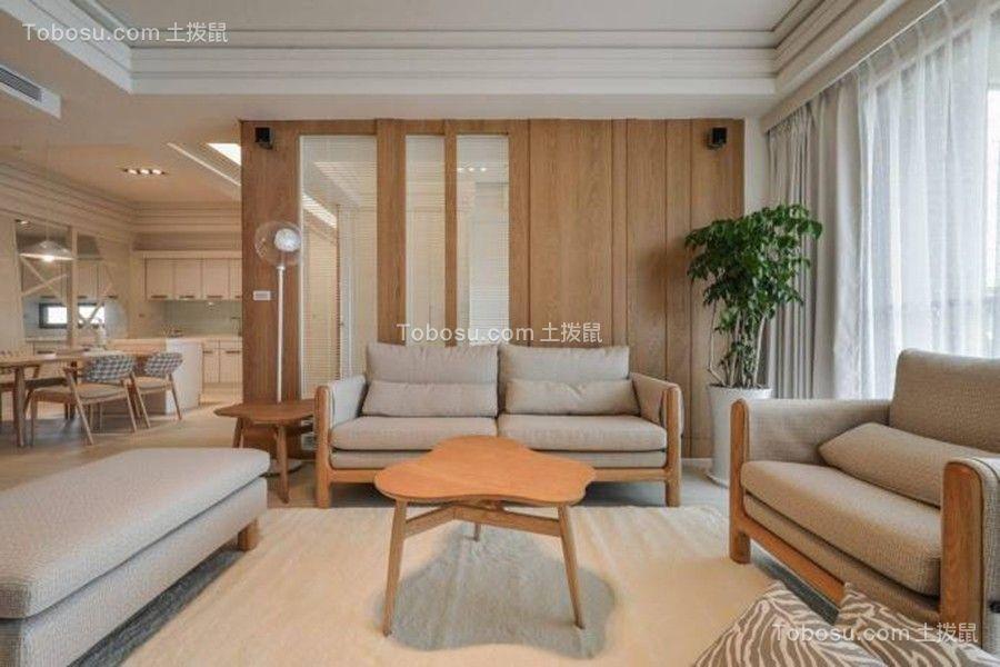 客厅灰色沙发日式风格装饰图片