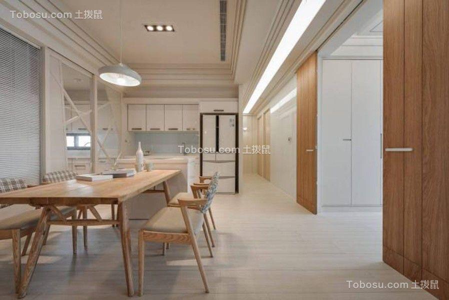 餐厅米色地砖日式风格装饰设计图片
