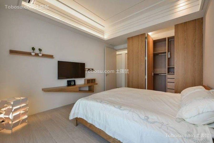 卧室白色背景墙日式风格装饰效果图