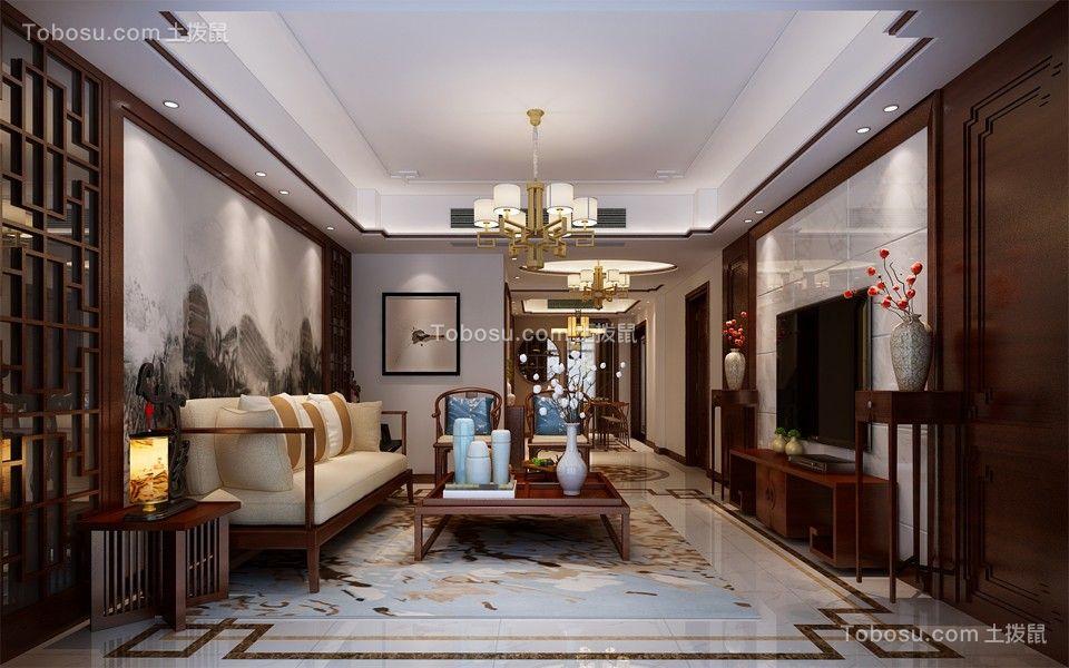 193平新中式风格四居室装修效果图