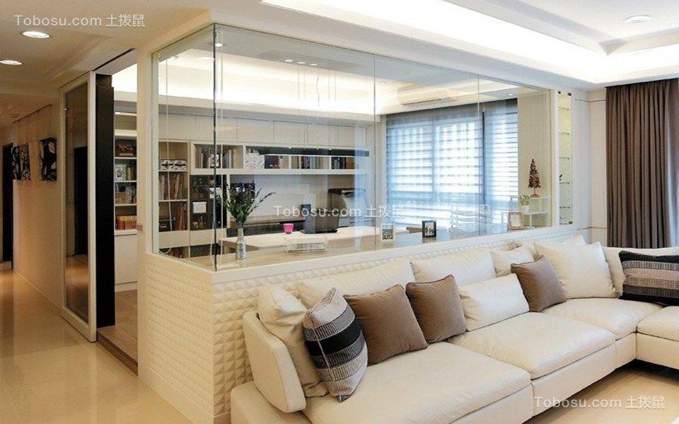 109平现代简约风格三居室装修效果图