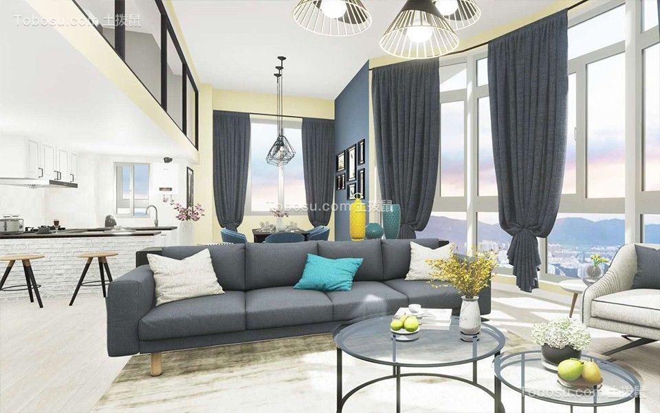 56平后现代风格一居室装修效果图