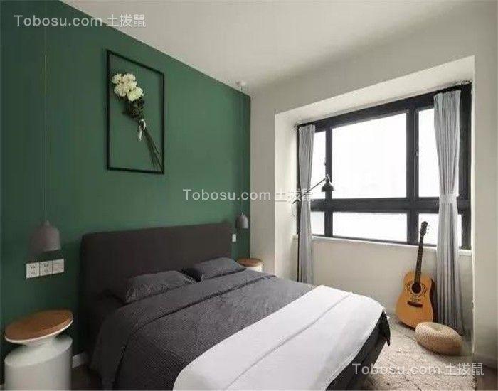 华丽绿色背景墙装饰设计图片