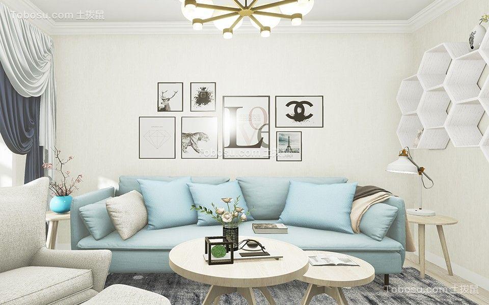 56平北欧风格一居室装修效果图