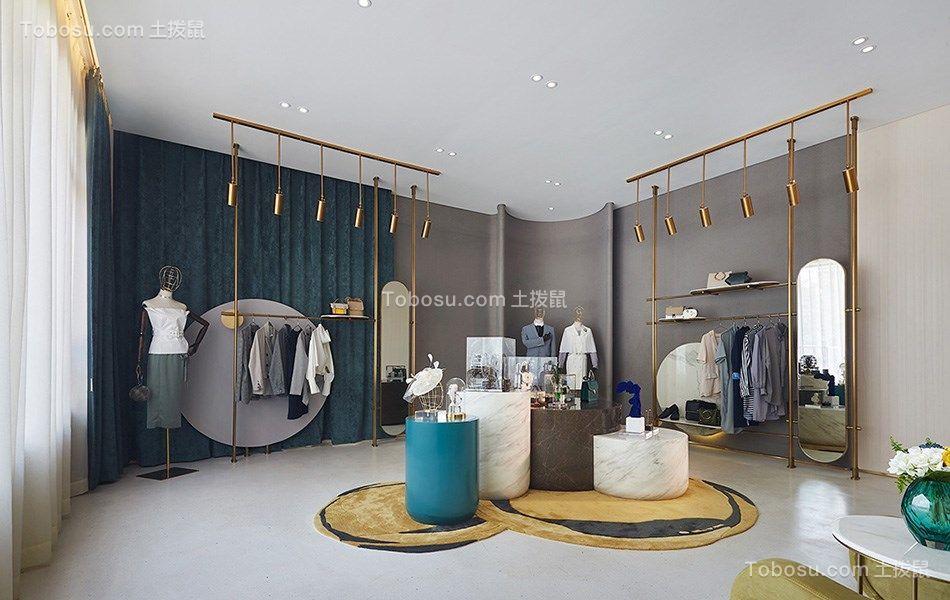 98平现代风格服装店装修效果图