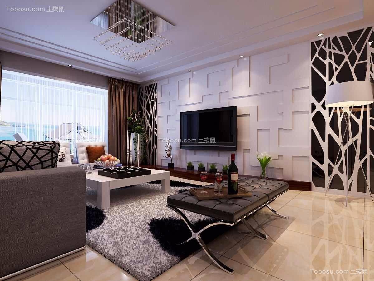 148平现代风格四居室装修效果图