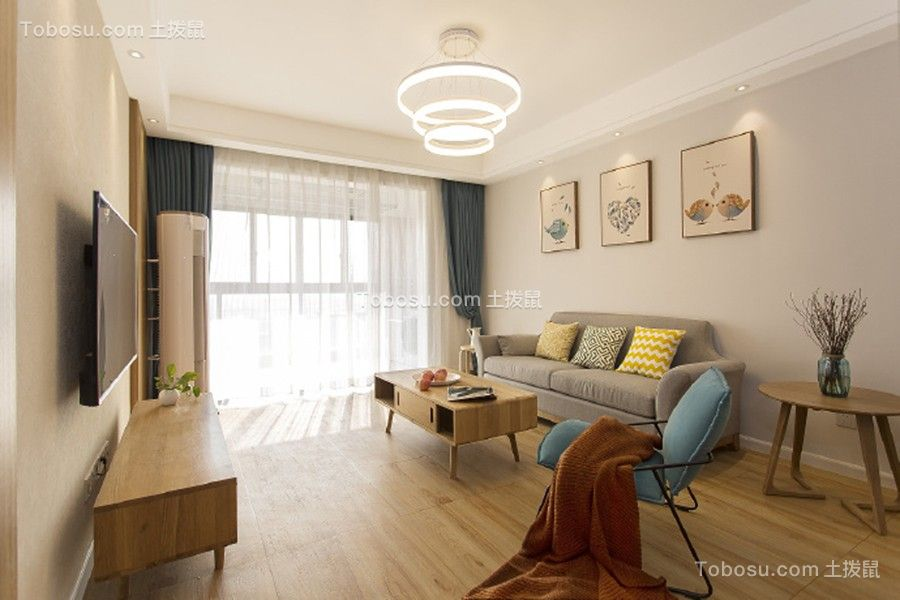 120平日式风格三居室装修效果图