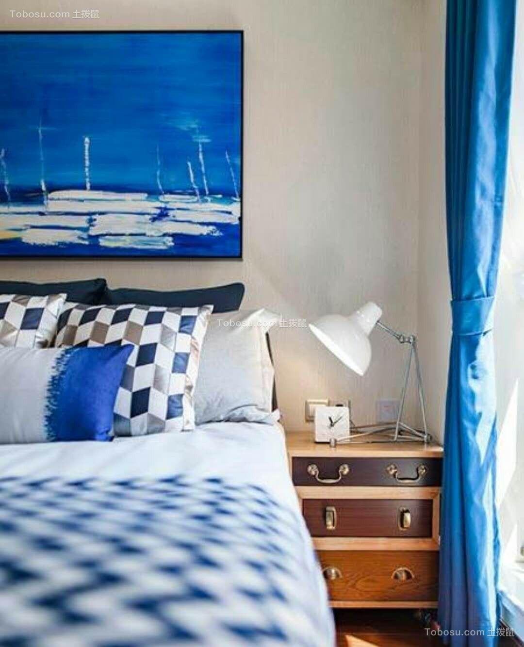 卧室咖啡色床头柜简约风格装修设计图片