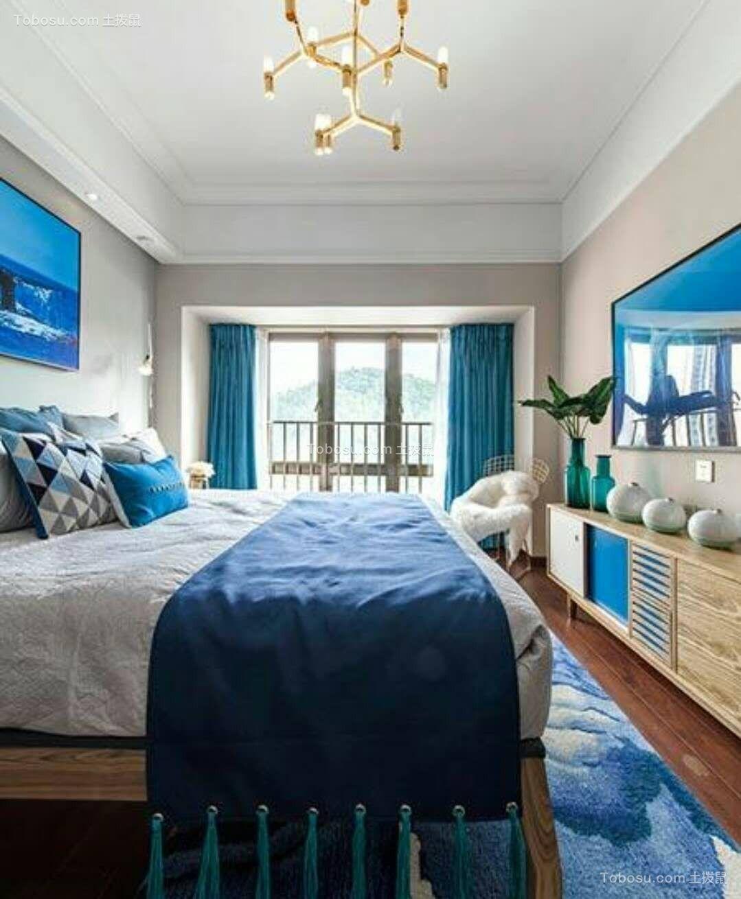 卧室白色吊顶简约风格装饰设计图片