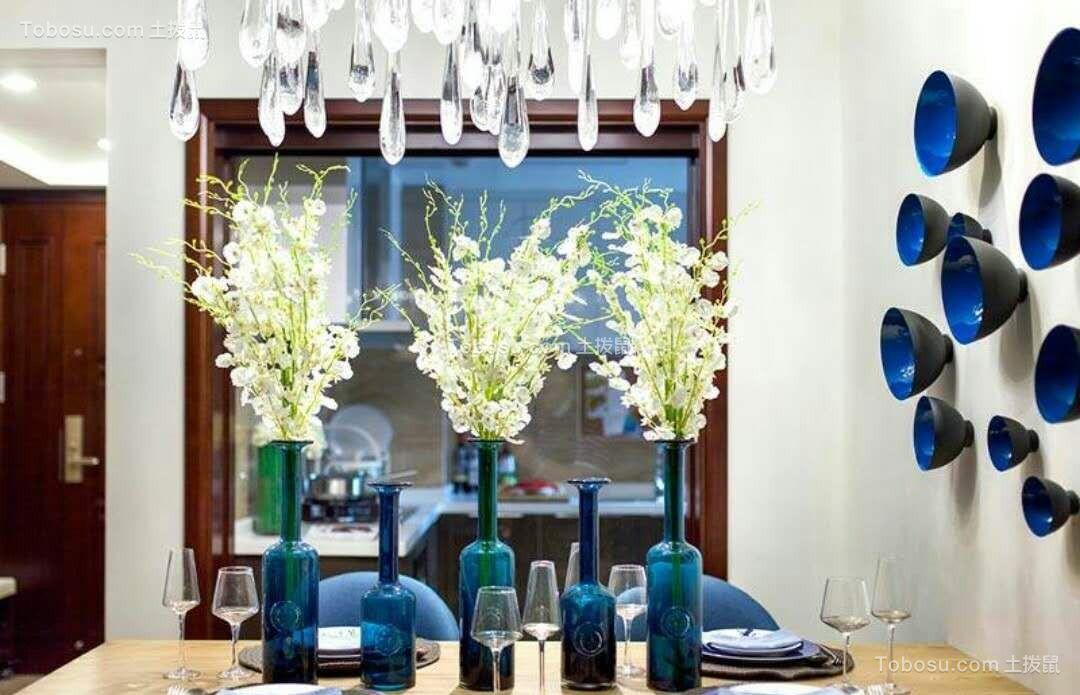 餐厅黄色餐桌简约风格装修效果图