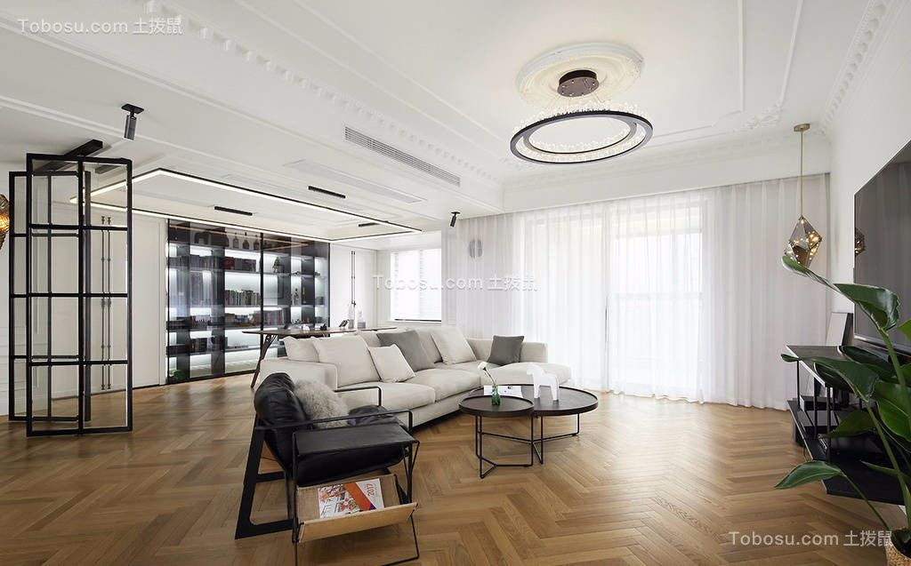 112平现代简约风格两居室装修效果图