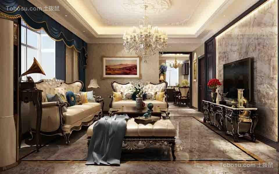 127平欧式风格四居室装修效果图