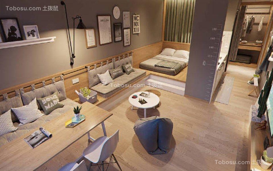 113平北欧风格三居室装修效果图