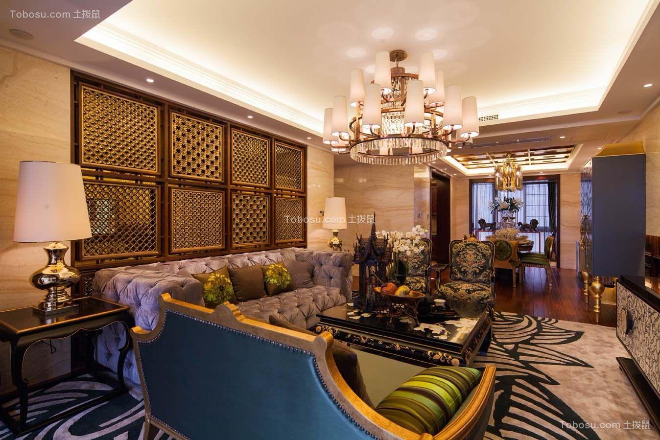 115平新中式风格三居室装修效果图