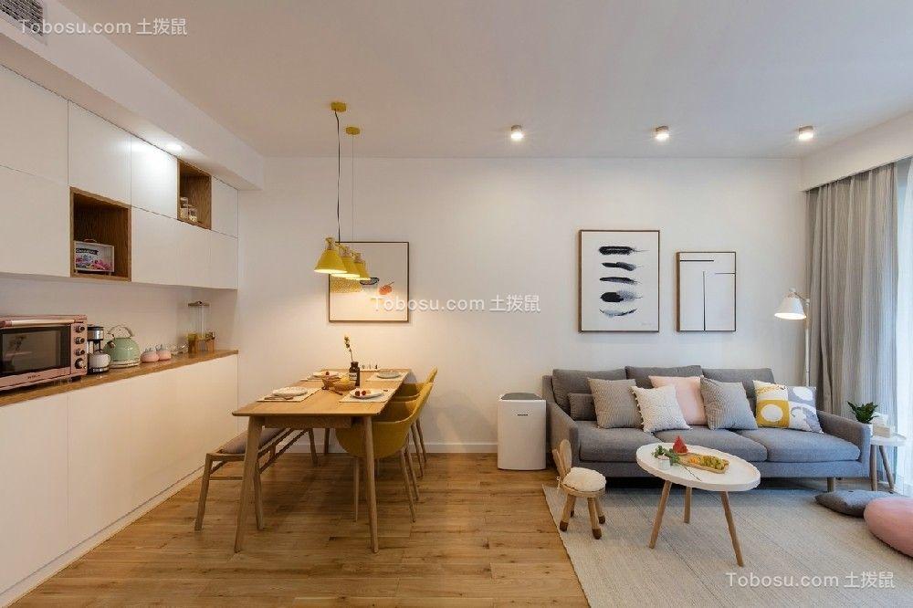 94平日式风格三居室装修效果图