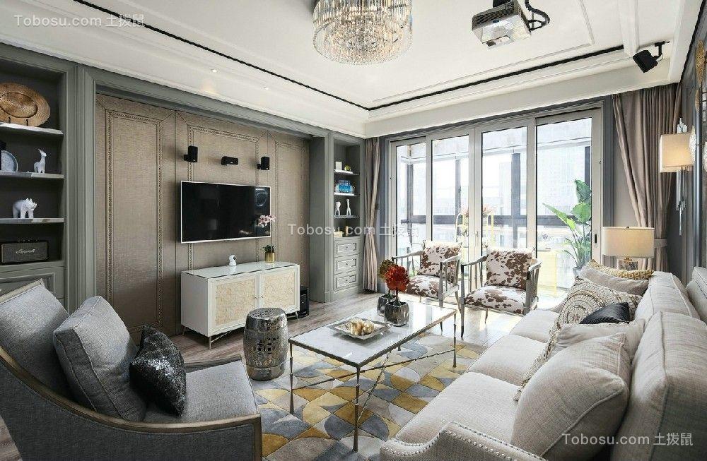 172平美式风格三居室装修效果图