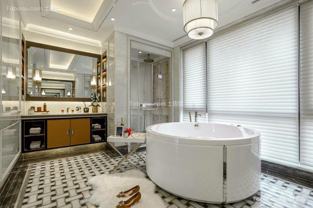 淡雅浴室简欧设计效果图
