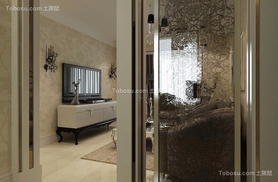 客厅米色地砖新古典风格装饰设计图片