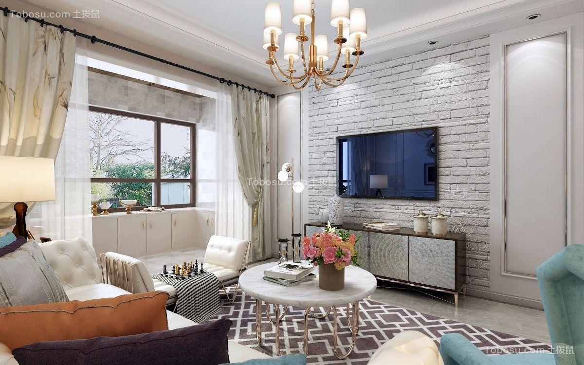 74平新古典风格公寓装修效果图