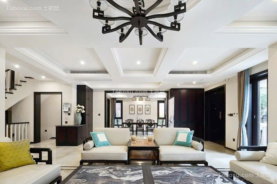 152平中式古典风格别墅装修效果图