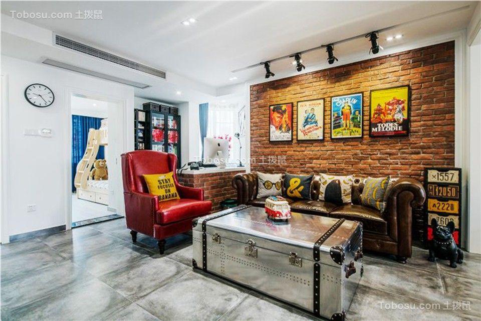 90平简单风格两居室装修效果图