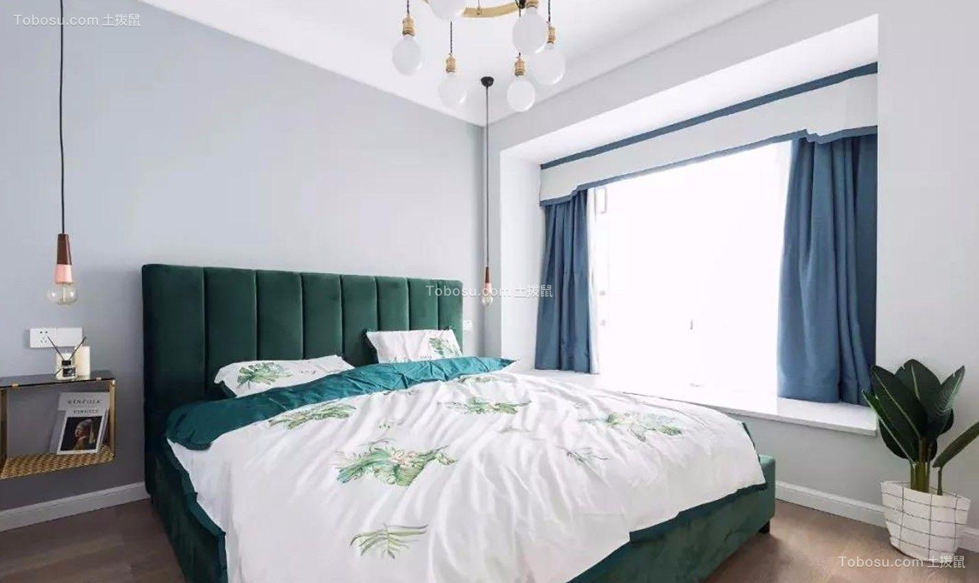 美轮美奂绿色床装饰实景图片