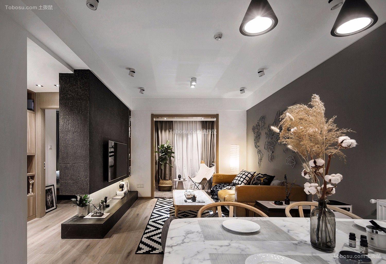 114平现代风格两居室装修效果图