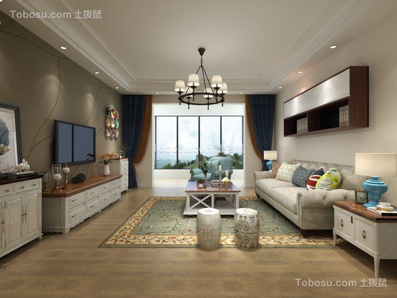 139平现代风格三居室装修效果图