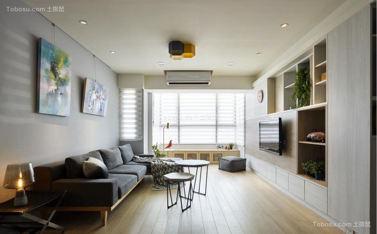 76平北欧风格一居室装修效果图