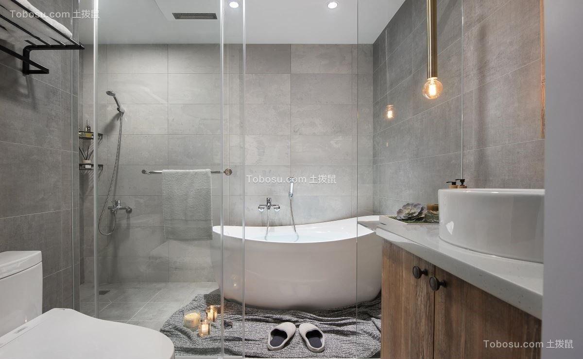 2018北欧卫生间装修图片 2018北欧浴缸装修设计