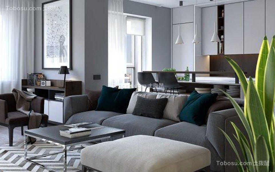 112平现代风格四居室装修效果图
