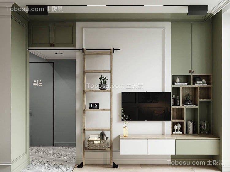美轮美奂绿色电视背景墙装饰效果图