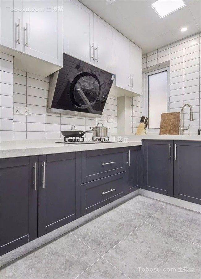 厨房地砖北欧风格装潢设计图片