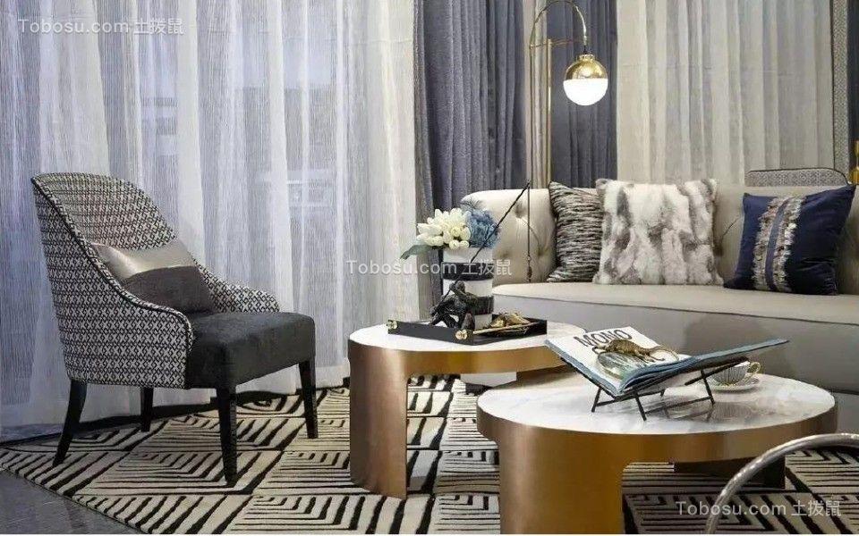 128平欧式风格三居室装修效果图