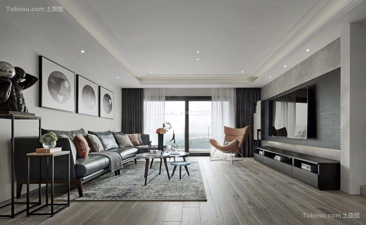 153平简约风格三居室装修效果图