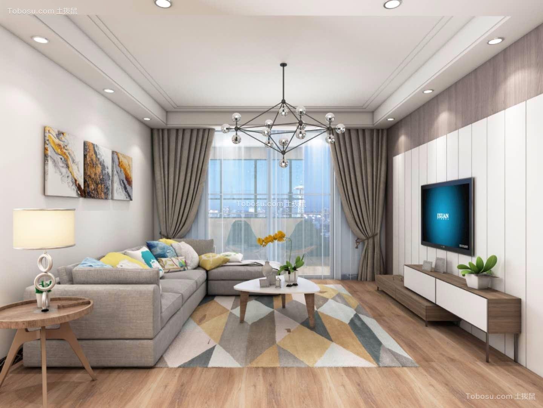 154平简约风格三居室装修效果图