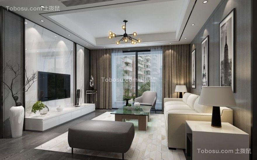 135平现代简约风格四居室装修效果图