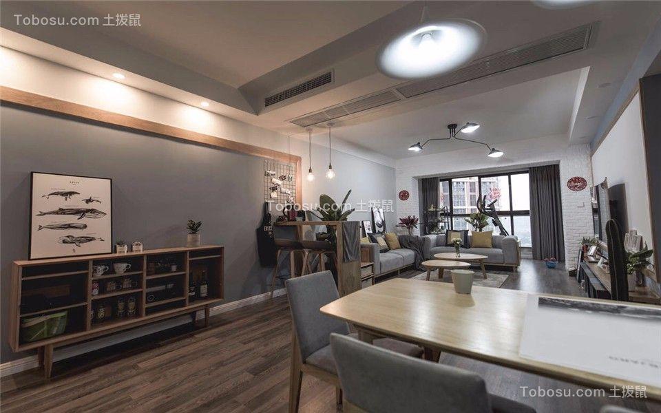 109平现代简约风格两居室装修效果图