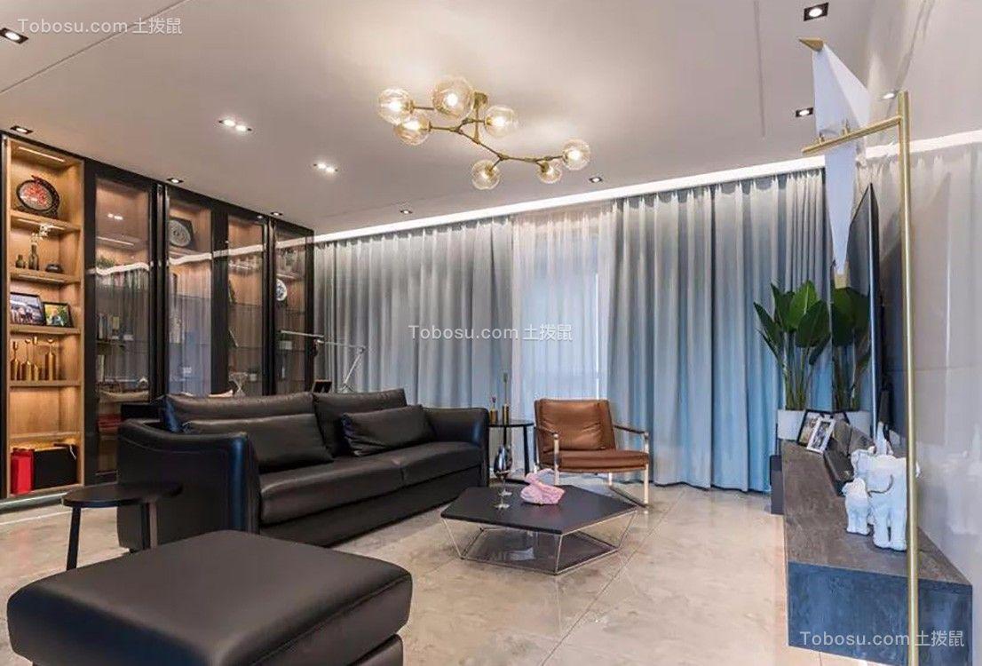 125平现代简约风格三居室装修效果图
