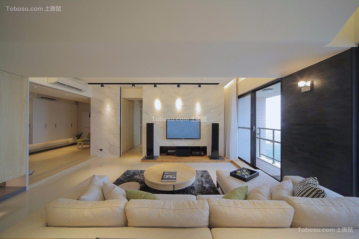 客厅白色吊顶装修案例效果图