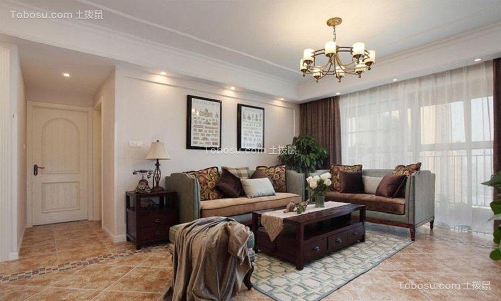 古朴咖啡色沙发装饰设计