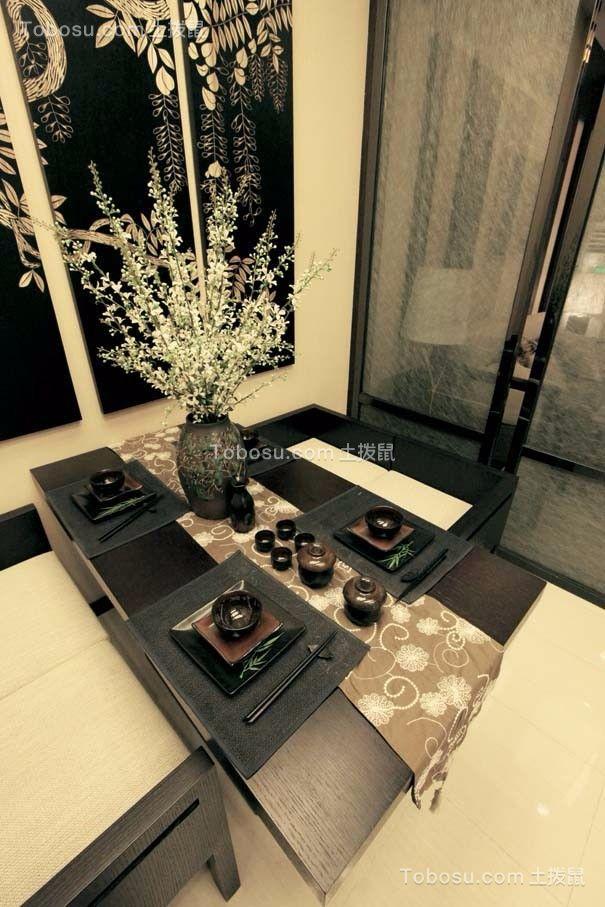 典丽矞皇黑色餐桌装修方案
