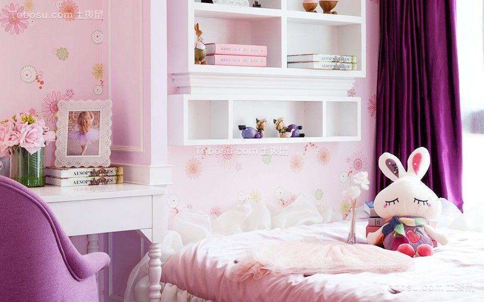 2018美式儿童房装饰设计 2018美式窗帘图片
