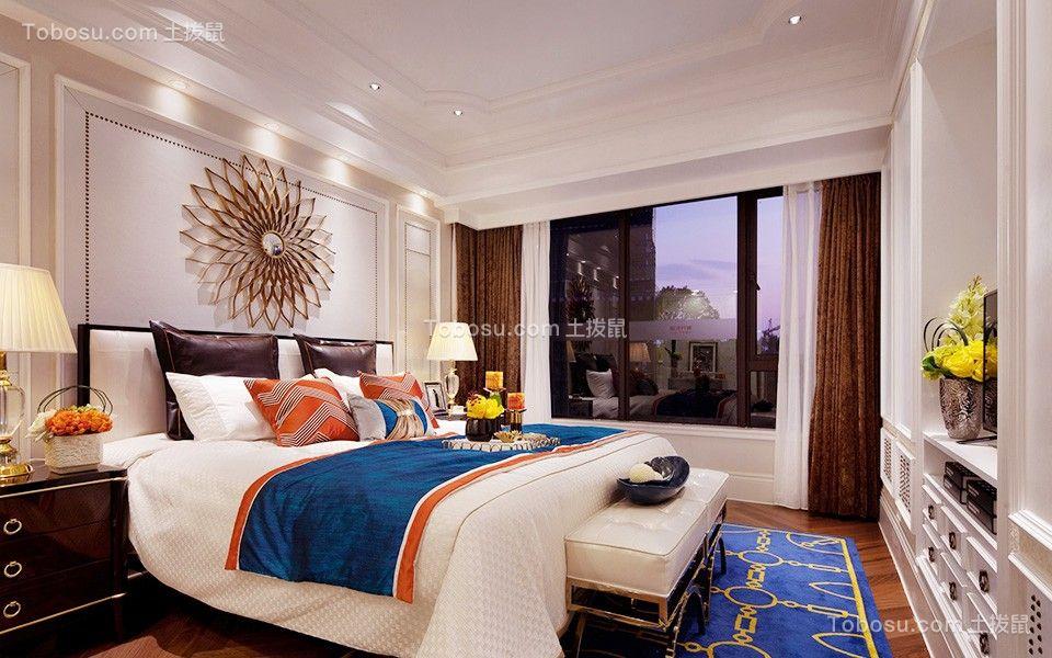 卧室米色背景墙装修设计图片