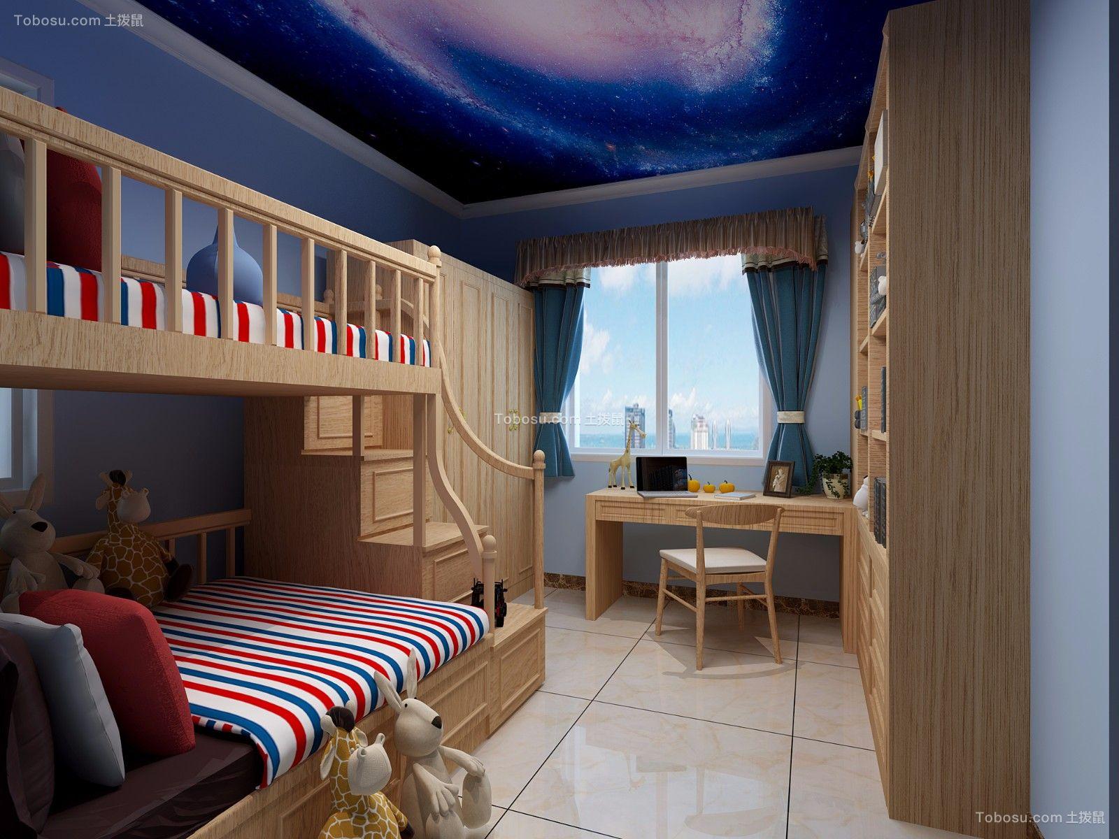 2019中式儿童房装饰设计 2019中式床效果图