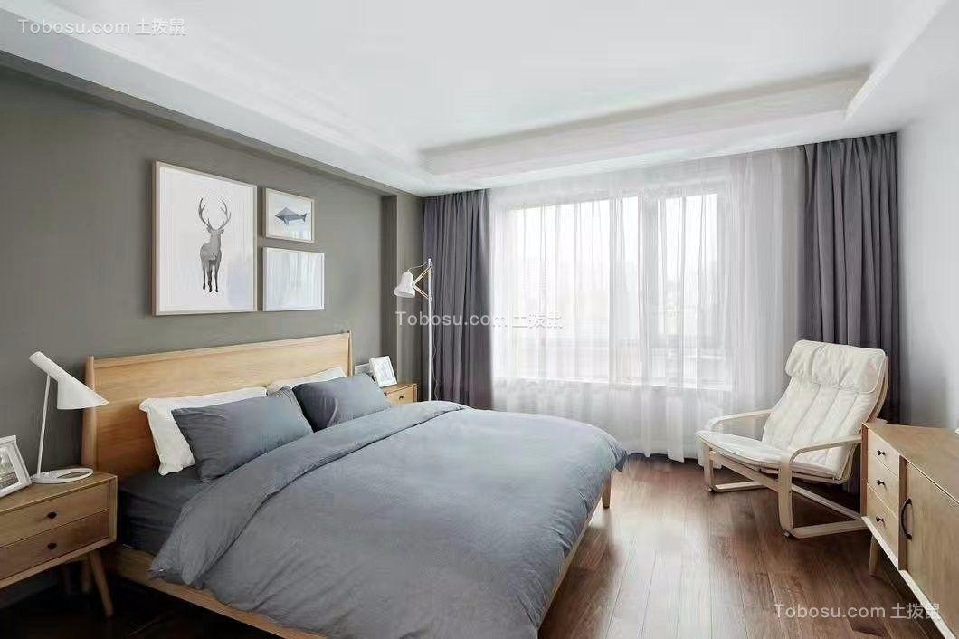 现代卧室窗帘装潢图